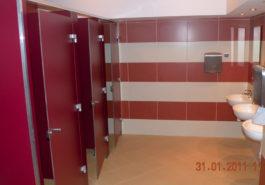 Ścianki giszetowe wc w szkole