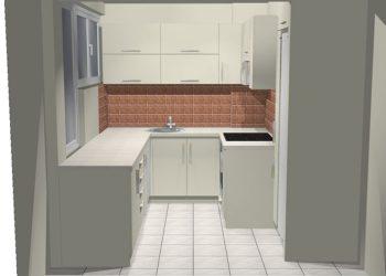 Projekt koncepcyjny małej kuchni