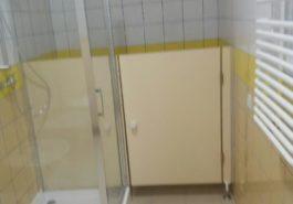Ścianki systemowe WC w przedszkolu w Siedliszczu